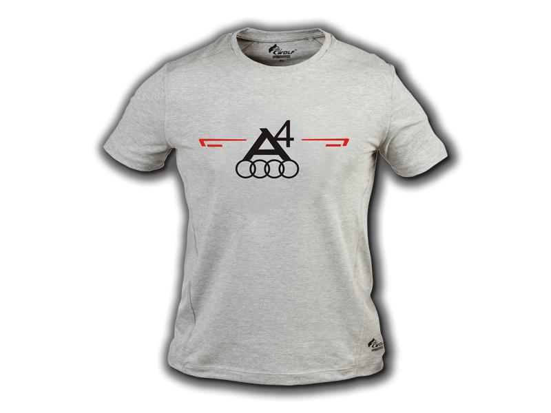 Baskılı Tişört Audi A4 Gri