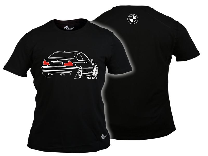 Baskılı Tişört BMW M3 Siyah