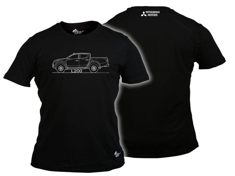 Baskılı Tişört Mitsubishi Siyah