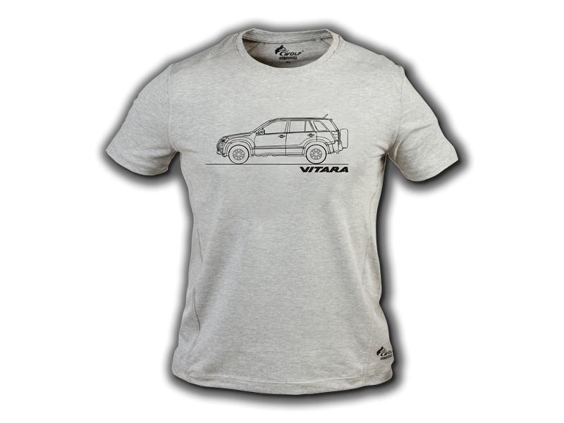 Baskılı Tişört Suzuki Vitara Gri