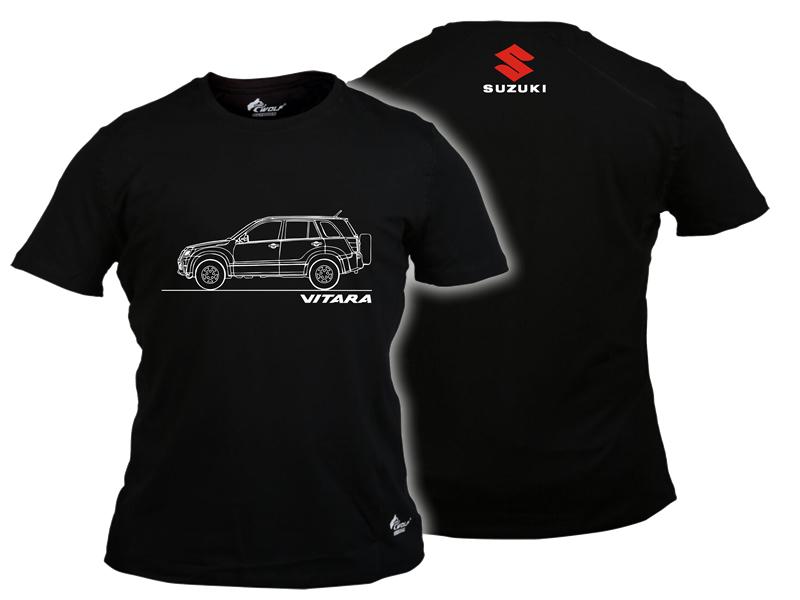 Baskılı Tişört Suzuki Vitara Siyah