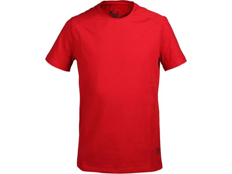 Bisiklet Yaka Tişört Kırmızı