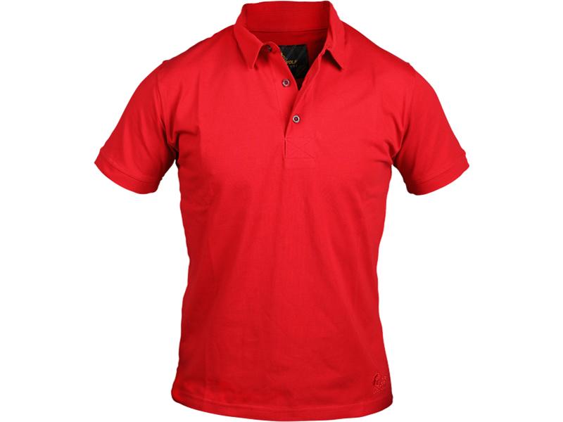 Polo Yaka T-Shirt Kırmızı Bartın