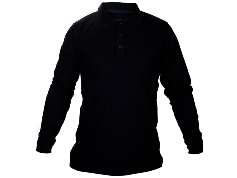 Polo Yaka Sweat Shirt Siyah